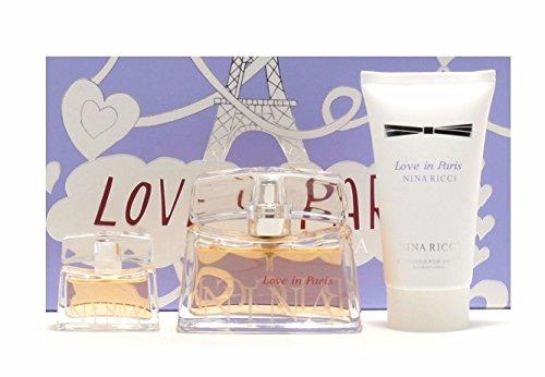 Nina Ricci Love In Paris Gift Set 30ml EDP + 50ml Body Lotion + 5ml EDP