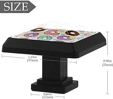 "4 Pack Round Cabinet Hardware Knob Doughnut - 1-37/100"" Diameter - knobs for Dresser Drawers"