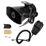 CARMOCAR Car Siren Horn 7 Tone Sound Siren Police Mic PA Speaker Car System...