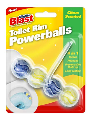 Toilet Rim Power Balls Lavatory Cleaner Freshener Scented Hygienic Flush Clip (Citrus fresh)