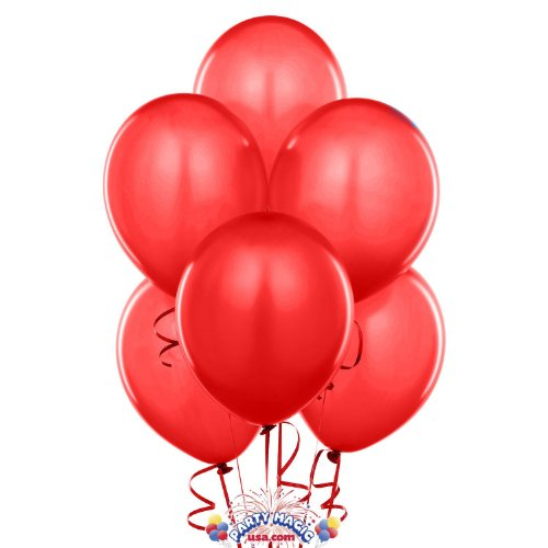 Kings' deal (Tm) 12 Inches High Quality Ultra Thickness Latex Balloon 100 Count (Red)