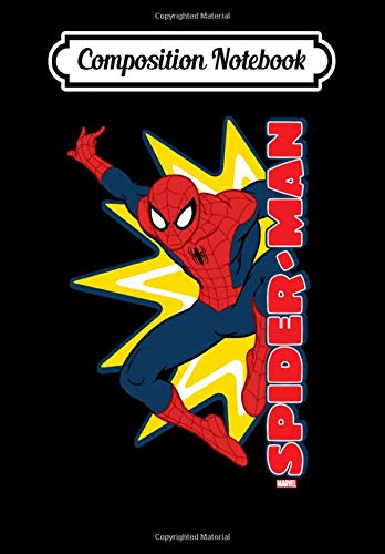 Composition Notebook: Spider-Man Callout Graphic, Journal 6 x 9, 100 Page Blank...