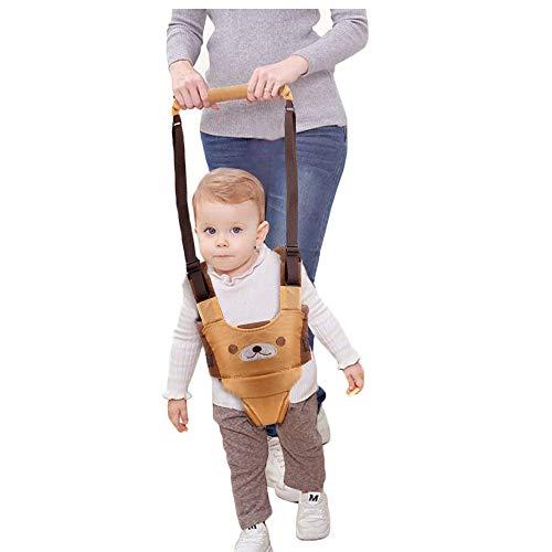 Lauflernhilfe Gehhilfe für Baby Stehen Gehen Lernen Helfer Walker Sicherheitsleinen für Kinder 6-27 Monthe Baby Kleinkind Kind Kinde (Gelb)【Neue Version】