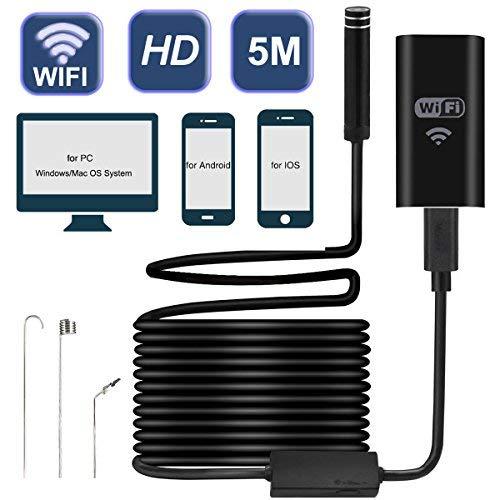 Satkago WiFi Endoscopio Inalámbrico, Camara Endoscopica Cámara de Inspección Boroscopio Resistente al Agua Cámara de