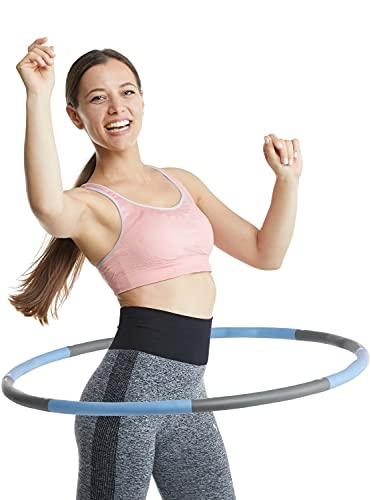 Klington Hula-Hoop - Pneumatico per fitness per una rapida riduzione del peso - Hula Hoop di alta qualità 1,2 kg - Hulahoop con diametro di 1 m - Hula con borsa e metro a nastro (blu)