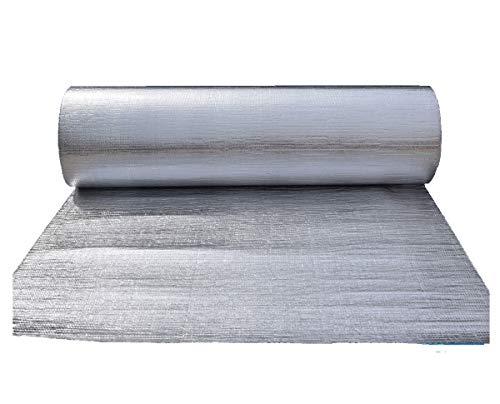 FMLFS Autoadhesivo Aluminio Aislante con Burbujas Aislamiento térmico Reflector de Calor Aluminio Reflexivo Multicapa De Burbujas De Aire para Techo Y Fachada (Size:1x5m)