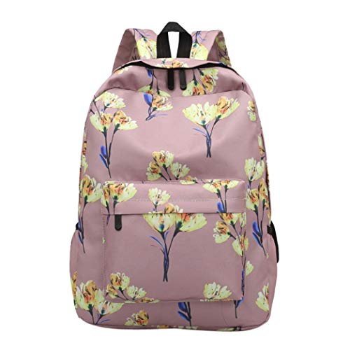 CLOOM zaino, Zaino del computer portatile donne per la borsa dello zaino della scuola delle adolescenti che stampa gli zainhi femminili per gli studenti universitari(A,1PC)