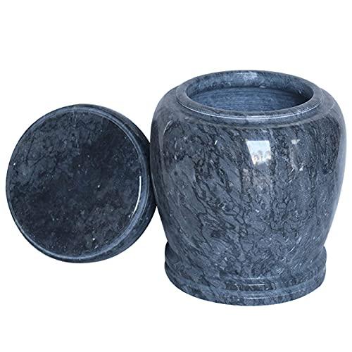LXLH Urnas conmemorativas para Cenizas, columbario de cremación Urnas funerarias para Adultos, urnas de mármol utilizadas para almacenar Cenizas en Memoria de los Seres Queridos, Suministros fune