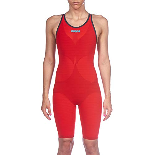 ARENA Damen Powerskin Carbon Air² Closed Back Racing Badeanzug, Damen, einteilig, Powerskin Carbon Air² Fbsl Women's Closed Back Racing Suit, rot, 28