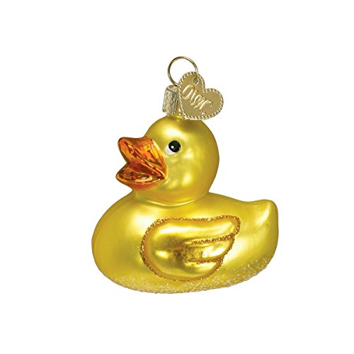 Old World Christmas Rubber Ducky Baby Collection Glass Blown Ornaments for Christmas Tree