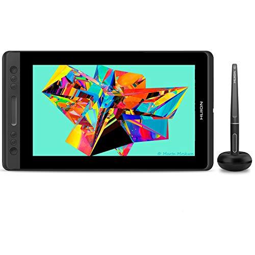 HUION Kamvas Pro 13 Tableta Grafica con Pantalla, 13,3 Pulgadas Tableta Grafica Dibujo con Función de Inclinación de ± 60 °, Gama sRGB al 120%, Pantalla Laminado Completo (Reacondicionado)