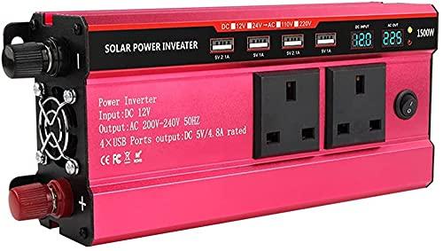Convertidor de automóviles Inverter 65 0W DC 12V a AC 220V con dual C.A. Zócalo de salida y 4 USB Cargador de adaptador automático de puertos para automóvil portátil Electric Light Light Generator