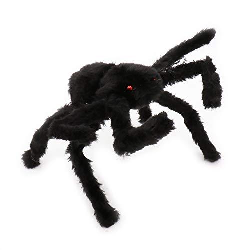 WSJDE Halloween schreckliche große Schwarze pelzige weiche gefälschte Spinne Halloween Spukhaus Bar Dekoration Lieferungen Scherz Spielzeug realistische Requisiten
