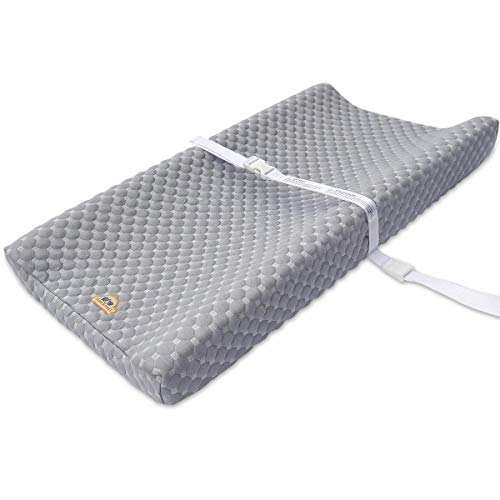 Super Soft and Comfy Bamboo Changing Pad Cover for Baby by BlueSnail (Gray)