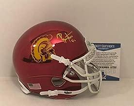 Ronnie Lott Autographed Signed Usc Trojans Chrome Football Mini-Helmet Beckett L97552