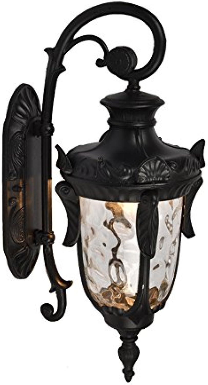 GAOWORD Wasserdichte Wand-Lampe Im Freien Führte Aluminiumgarten-Villa-Gang-Lichter, Nicht Glühlampen Enthalten,schwarz