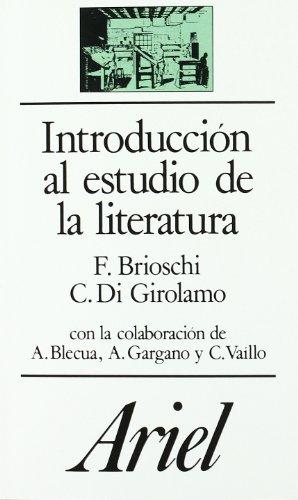 Introducción al estudio de la literatura (Ariel Letras)