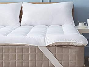 Niagara Sleep Solution Mattress Topper Twin 39x75 Quilted Down Alternative Anchor Band 4 Corner Elastic Protector Enhancer Extra Deep Fits 20 Inches Soft White Bed Cover (Microfiber, Twin 4 Corner)