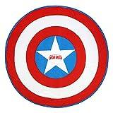 Cerdá 2200003996 Toalla Redonda Avengers Capitan America, Rojo, 130x130cm