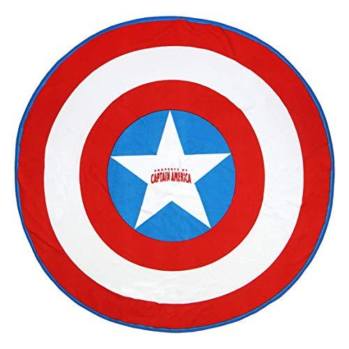 Cerdá 2200003996 Toalla Redonda Avengers Capitan America,