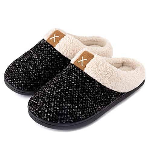 ULTRAIDEAS Women's Comfy Memory Foam Slippers Fuzzy Wool-Like Plush Fleece Lined House Shoes...