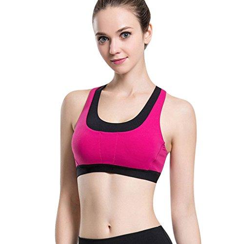 Beepeak Mujeres de Secado rápido Acolchado (Espalda Cruzada Yoga Gimnasio Camiseta de Tirantes Sujetador Deportivo