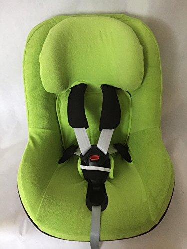 Sommerbezug Schonbezug Frottee von EKO passend für Maxi-cosi Pearl, Pearl Pro und 2wayPearl Frottee 100% Baumwolle grün