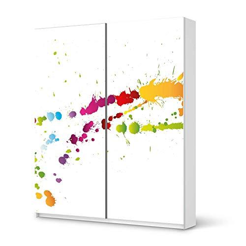 creatisto Möbelfolie selbstklebend passend für IKEA Pax Schrank 236 cm Höhe - Schiebetür I Möbeldeko - Möbel-Aufkleber Folie Tattoo I Wohndeko für Esszimmer und Wohnzimmer - Design: Splash 2