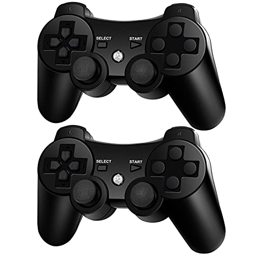 PS3 Controller Wireless 2 Pack, Replacement for Playstation 3 Controller Wireless, PS3 Remote Controller, PS3 Bluetooth Controller, PS3 Joystick Controller, Compatible with Sony Playstation 3