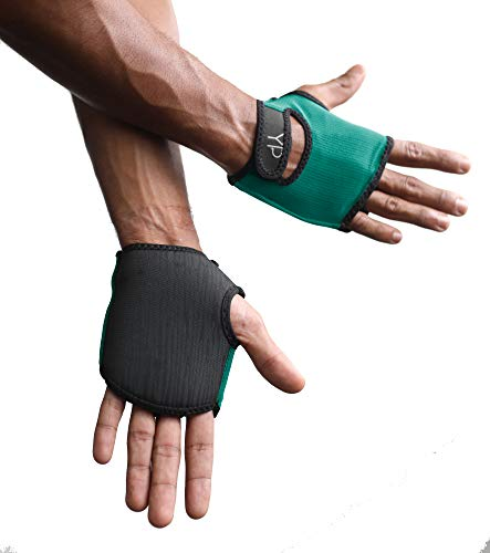 YogaPaws SkinThin Non-Padded Yoga Gloves for Women and Men, Non Slip Grip, for Hot Yoga, Vinyasa, Pilates, Barre, SUP, Travel, and Sweaty Hands (Jade Green, Size 2)