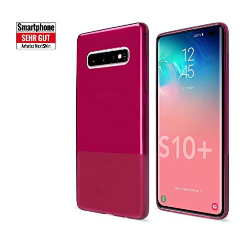 Artwizz NextSkin Case Designed für [Galaxy S10 Plus] - Ultra-dünne, elastische Handyhülle mit 0,8 mm Dicke, 2/3 Transluzent, 1/3 Matt - Berry