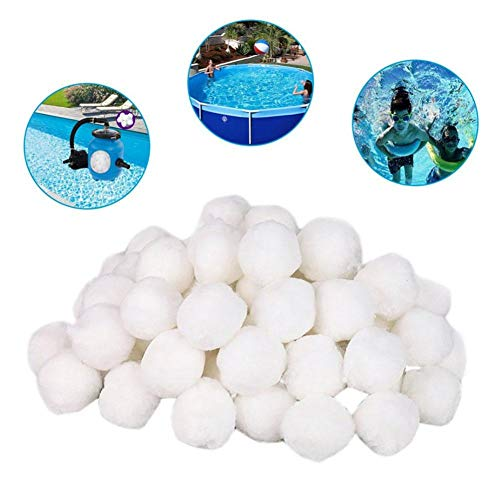 700g Pool Filter Balls, Water Filter Media Sand Filters Replacement Swimming Pool Eco-Friendly Reusable Filter Filtration Balls Cleaning Water Purification Fiber Balls