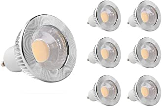 GOOLSUN 5-watt GU10 LED COB Flood Bulb, 3000K Soft White, Dimmable, 90° Beam Spread, 50-watt Equivalent, 500 lumens, CRI 8...