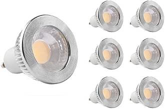 GOOLSUN 5-watt GU10 LED COB Flood Bulb, 5000K Cool White, Dimmable, 90° Beam Spread, 50-watt Equivalent, 500 lumens, CRI 80+, AC 120V, 2.4