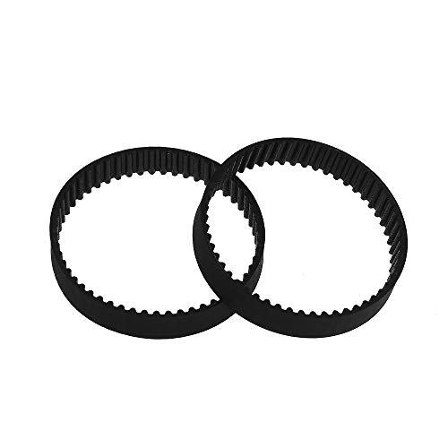 Aibecy GT2 Correa dentada de lazo cerrado Correas síncronas de goma W = 6 mm L = 110/112/158/200/280/400/610/852/1220 mm Kits de piezas de impresora 3D Paquete de 2 piezas