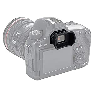 PROfezzion Visor Ocular Silicona Suave de Largo y Extendido para Canon EOS 6D, 6DII, 5D, 5DII, 80D, 70D, 60D, 77D, 800D, 760D, 750D, 700D, 650D, 600D etc. Cámara Reemplazo Canon EF. & EB. Portaocular