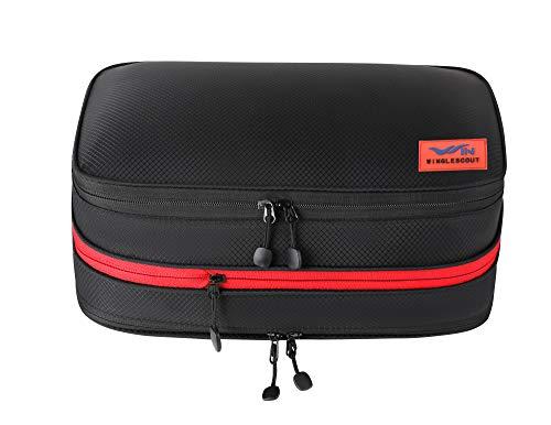 WINGLESCOUT 圧縮バッグ 便利衣類圧縮バッグ ファスナー圧縮でスペース50%節約旅行バッグ 便利旅行圧縮バッグ出張 圧縮袋 防水乾湿分離 超軽量(17L)