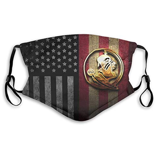 Florida State Seminoles_Mask Face Guard Dust Pattern Reusable Washable Breathable Outdoor Double Design with 2 Filter for Men/Women