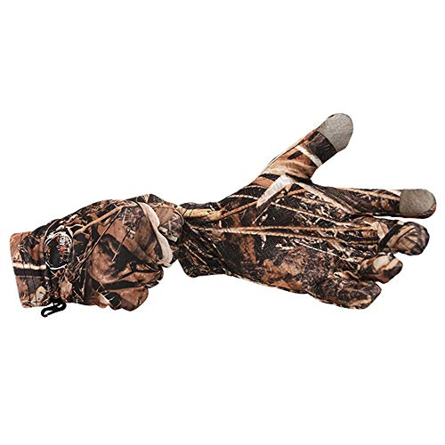 DecoyPro Touchscreen Lightweight Hunting Gloves for Men Camo – Textured Grip Palm Camo Gloves for Men Hunting – Soft Lining Mens Hunting Gloves – One Size Fits Most L to XL Camo Gloves Hunting