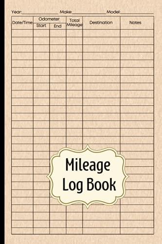Mileage Log Book: Car Mileage Jo...