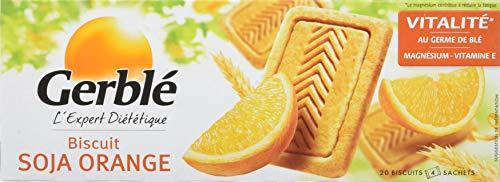 Gerble Biscuit Soja Orange le Paquet 20 Biscuits 280 g