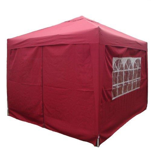 Falt Pavillon Partyzelt 3x3m Farbe: Bordeaux