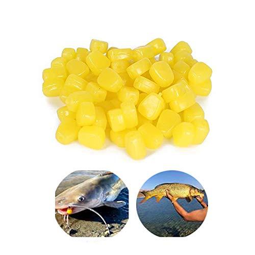 Xhope 30 pcs TPR Simulation Fake Corn,Soft Baits Corn Carp Fishing Lures Floating Baits with Nice Scent (30pcs)