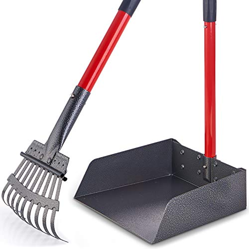 Pawler Bigger Dog Pooper Scooper for Large and Small Dogs, Easy to Use Rake and Tray Set for Pets, Great for Lawns, Grass, Dirt, Gravel