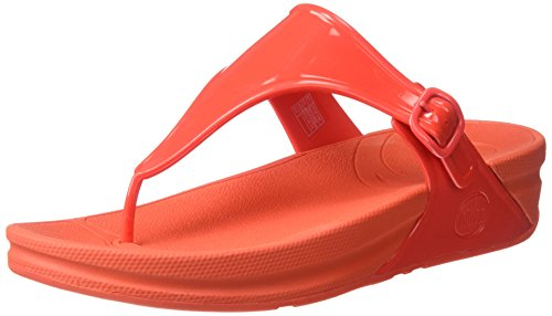 FitFlop Women's Superjelly Flip Flop, Flame, 5 M US