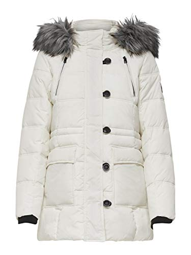 Only ONLNEWOTTOWA Nylon Coat OTW Abrigo, Blanco (Cloud Dancer Cloud Dancer), S para Mujer