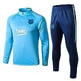 L-YIN Tire Jersey Suit Football Club Training deportes al aire libre de los hombres de la mitad (Tops + Pants) - AG0286 Chándales (Color : Blue, Size : M)