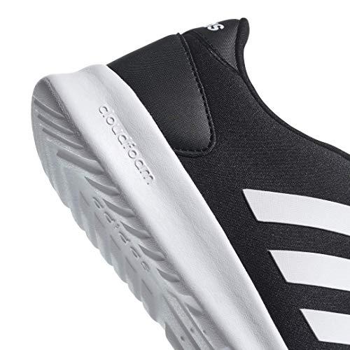 adidas Women's Cloudfoam QT Racer Sneaker, Black/White/Carbon, 9 M US 10