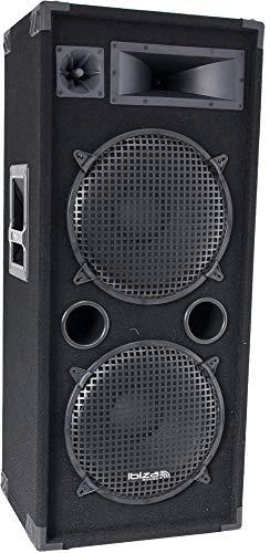 """IBIZA STAR215 3-WEGE 2x15\"""" DISCO LAUTSPRECHER BOX 1000W PARTY MUSIK EVENT DJ BÜHNE BESCHALLUNGSANLAGE SOUNDSYSTEM"""