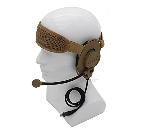 Tactical Bowman EVO III Headset Militar con TCI Tactical PTT Z029(Broncearse)